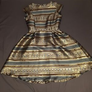 Worn once, structured retro holiday dress